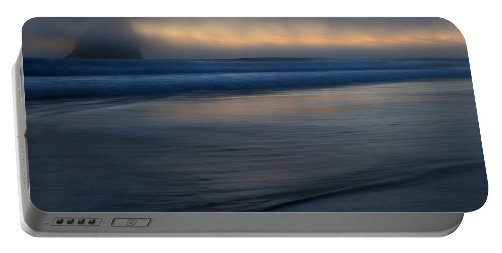 Pacific City Portable Battery Charger featuring the photograph Haystack Hidden by Mike Dawson