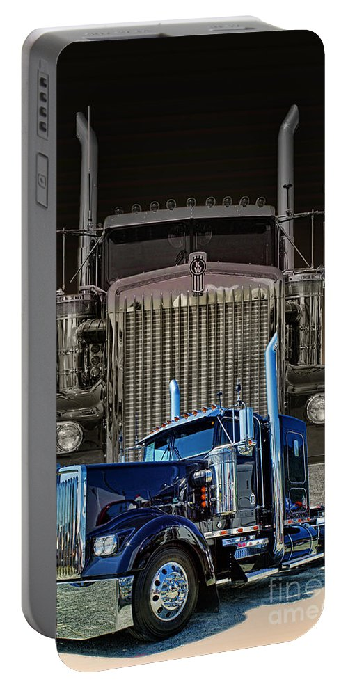 Trucks Portable Battery Charger featuring the photograph Hdrcatr3101a-13 by Randy Harris