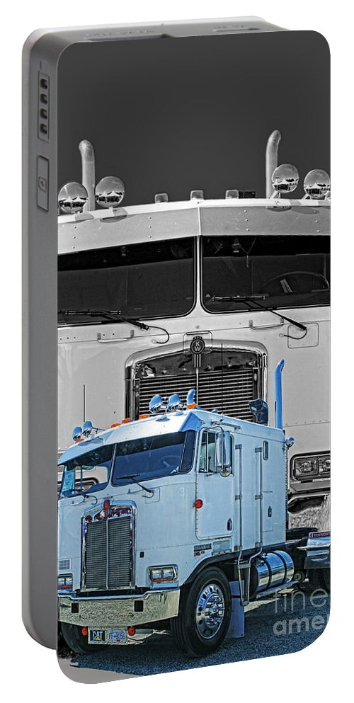 Trucks Portable Battery Charger featuring the photograph Hdrcatr3137-13 by Randy Harris