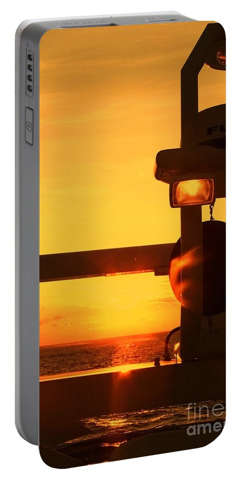 Sunset Portable Battery Charger featuring the photograph Heading Towards The Sun By Diana Sainz by Diana Raquel Sainz