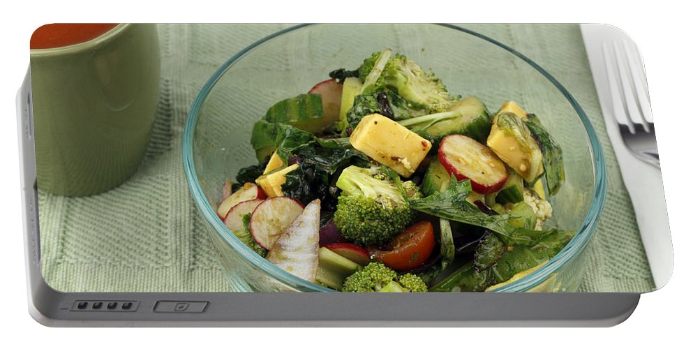Healthy Portable Battery Charger featuring the photograph Healthy Mixed Salad by Lee Serenethos