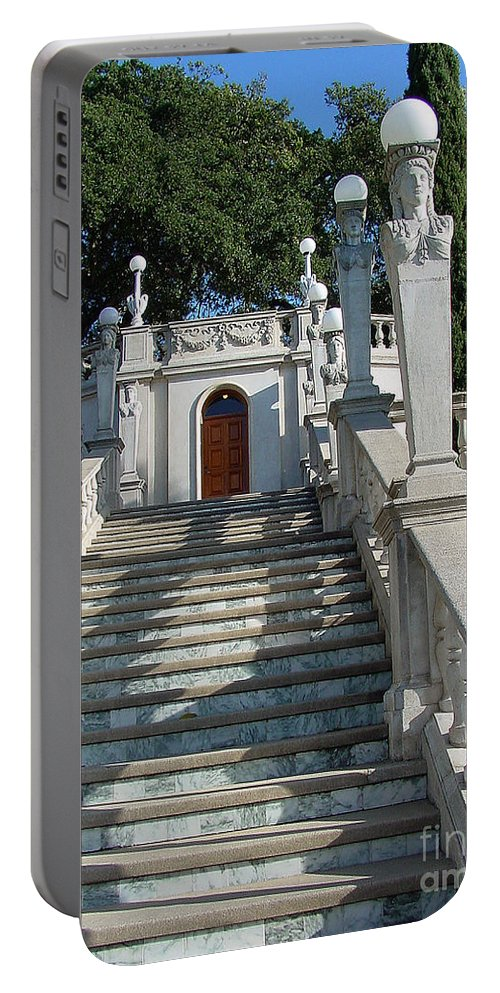 Stairs Portable Battery Charger featuring the photograph Hearst 2-faa by Gary Gingrich Galleries