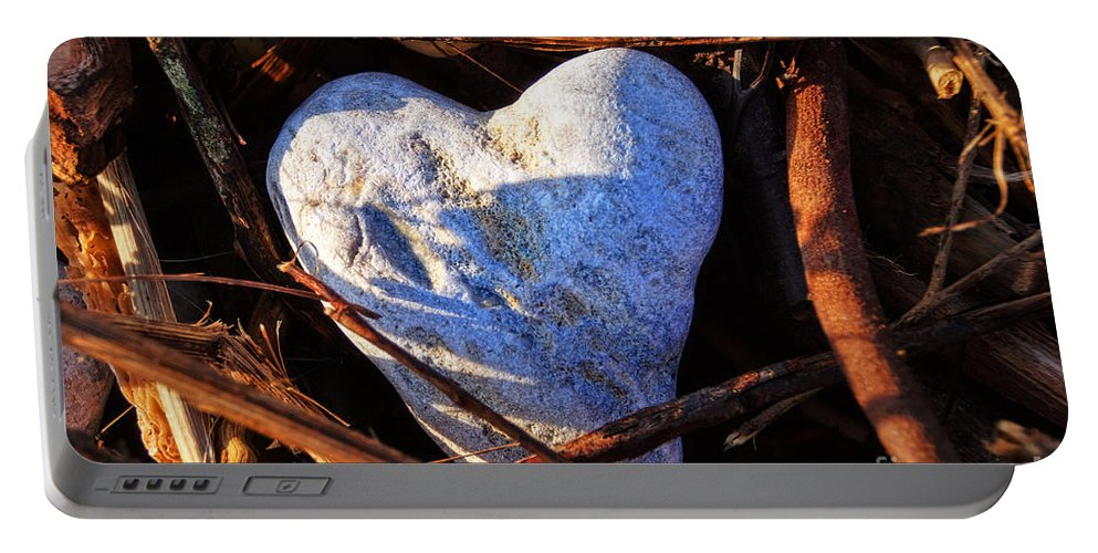 Peek-swint Portable Battery Charger featuring the photograph Heart Of Stone by Susie Peek