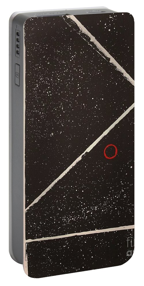 Abstract Portable Battery Charger featuring the painting Heartbeat by Wayne Cantrell