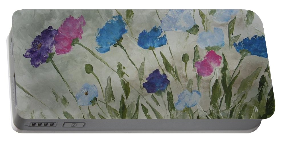 Textured In Color Portable Battery Charger featuring the painting Heaven And Earth B by Julie Cranfill