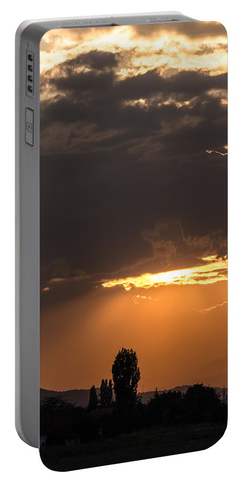 Background Portable Battery Charger featuring the photograph Heaven Is Open by Sotiris Filippou