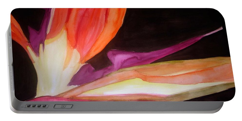 Water Color Flower Portable Battery Charger featuring the painting Heaven by Yael VanGruber