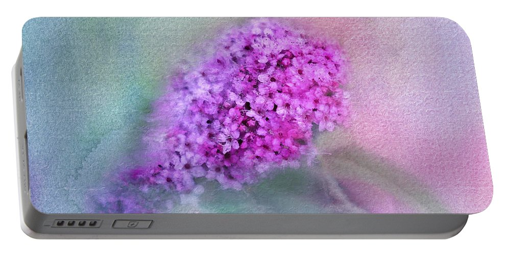 Spirea Portable Battery Charger featuring the photograph Heavenly by Betty LaRue