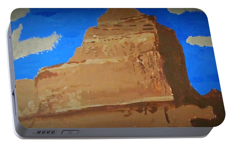 Mountain Portable Battery Charger featuring the painting Heaven's Peak by Robert Nacke