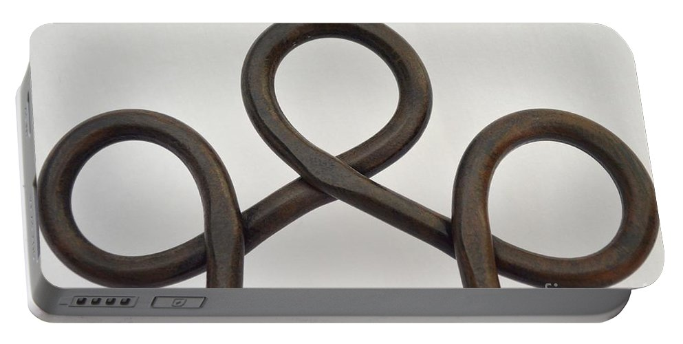 Easel Portable Battery Charger featuring the photograph Heavy Metal Bends by Mary Deal