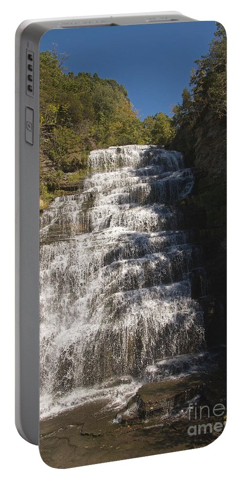 Water Portable Battery Charger featuring the photograph Hector Falls by William Norton