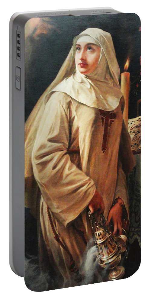 Pedro Americo Portable Battery Charger featuring the digital art Heloisas Vow by Pedro Americo