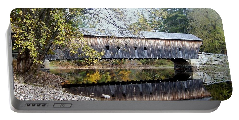 Covered Bridges Portable Battery Charger featuring the photograph Hemlock Covered Bridge by Catherine Gagne