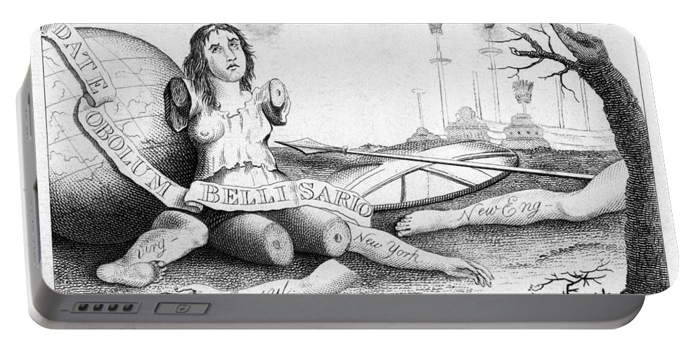 1767 Portable Battery Charger featuring the photograph Her Colonies Reduced by Granger
