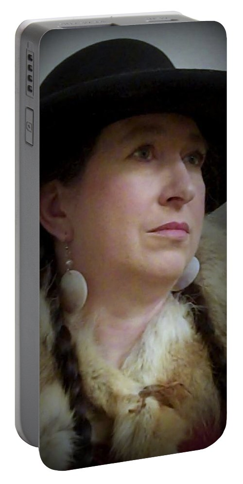 Hat Portable Battery Charger featuring the photograph Her Hat And Fur by Cindy New