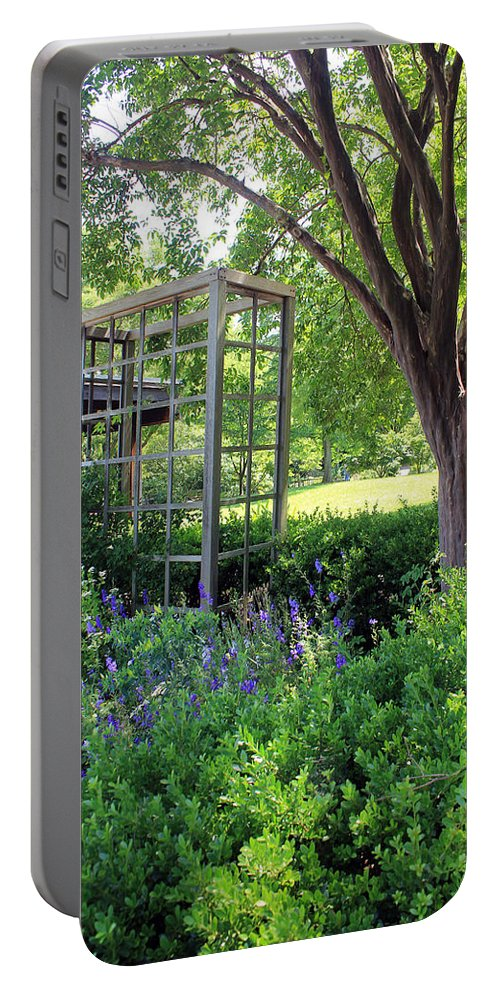 Herbs Portable Battery Charger featuring the photograph Herb Garden0981 by Carolyn Stagger Cokley
