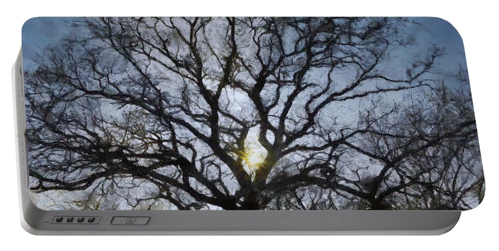 Autumn Portable Battery Charger featuring the painting Here Comes The Sun by Jeffrey Kolker