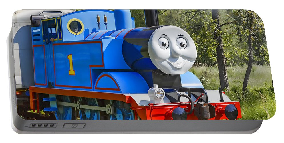 Thomas The Train Portable Battery Charger featuring the photograph Here Comes Thomas The Train by Dale Kincaid