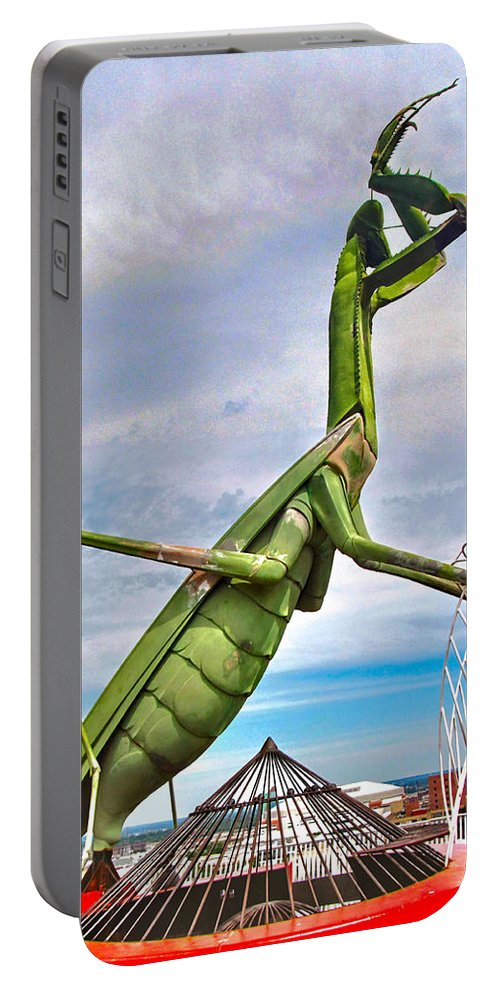 Grasshopper Portable Battery Charger featuring the photograph Here They Come by C H Apperson