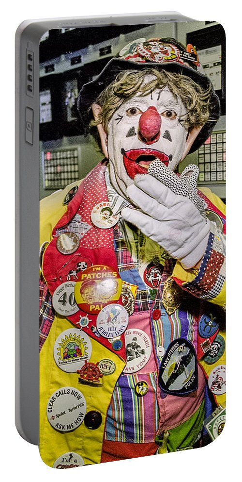 Chris Wedes Portable Battery Charger featuring the photograph Hey Kids Here's Jp by Mike Penney