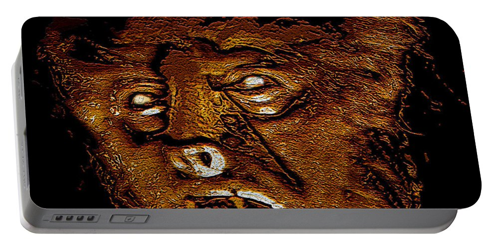 Post Card Portable Battery Charger featuring the painting Hh Wolfman Classic Style by David Lee Thompson
