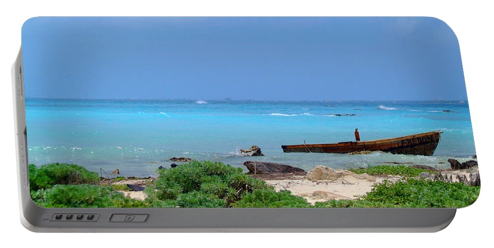 Landscape Portable Battery Charger featuring the photograph Hidden Beach by Susan Vincil