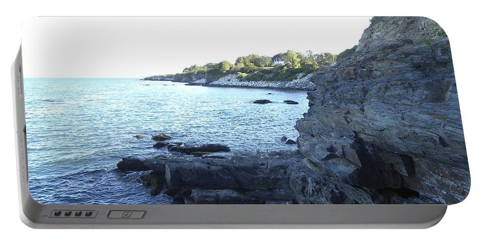 Cliff Walk Portable Battery Charger featuring the photograph Hidden Cave by Shannon Turek