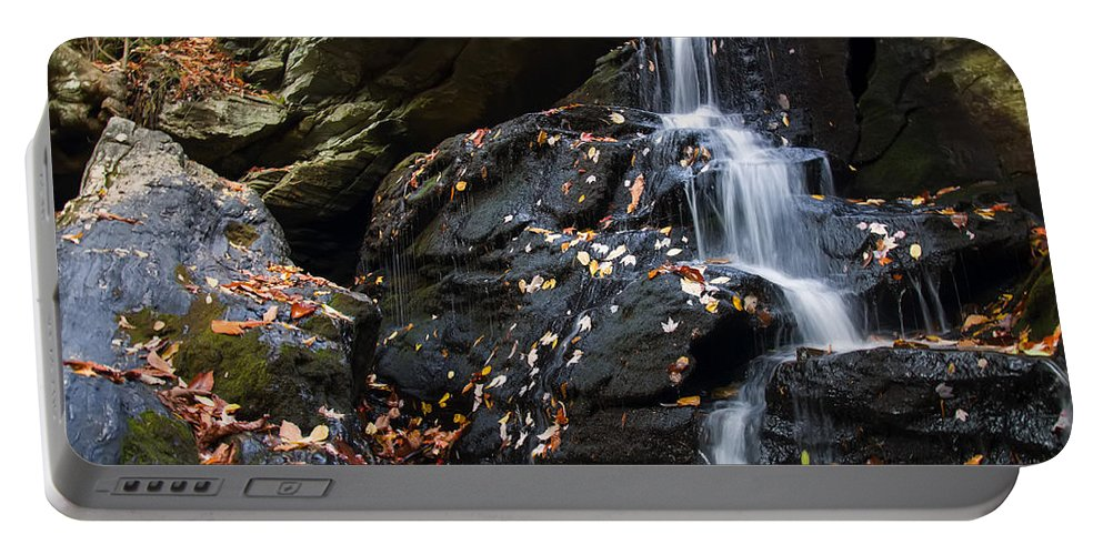 Waterfall Portable Battery Charger featuring the photograph Hidden Falls 1 by Chris Flees