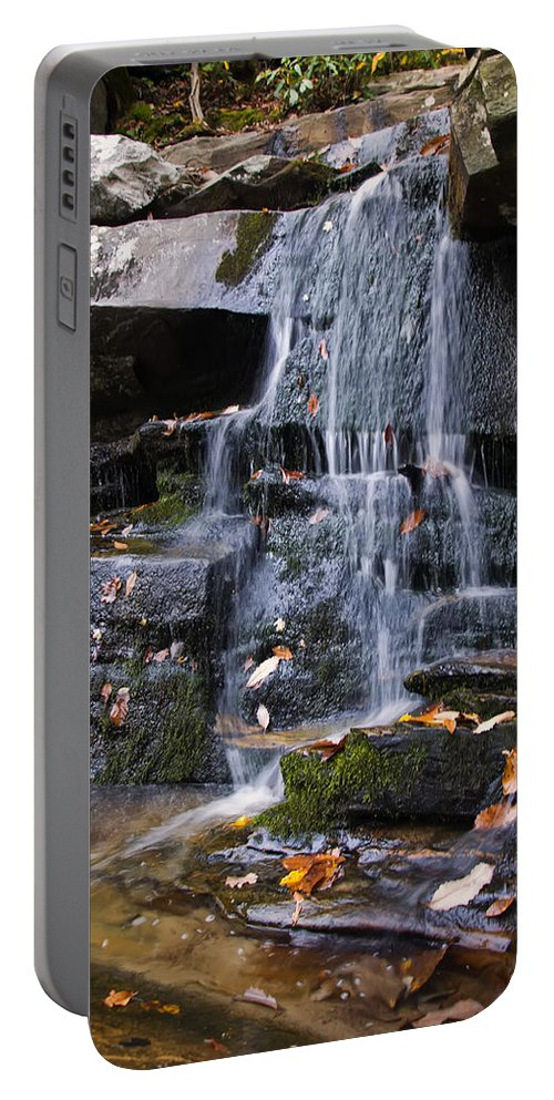 Waterfall Portable Battery Charger featuring the photograph Hidden Falls 6 by Chris Flees