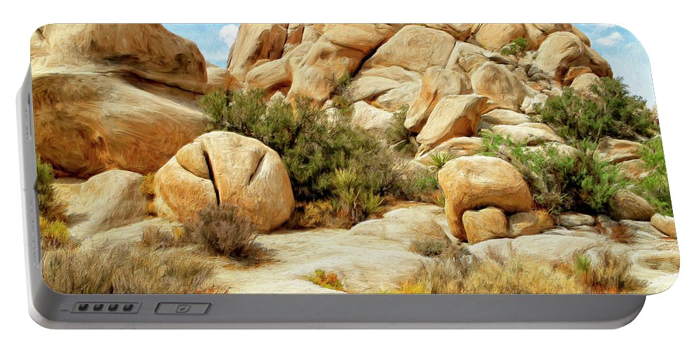 Hidden Valley Trail Portable Battery Charger featuring the painting Hidden Valley Trail by Dominic Piperata