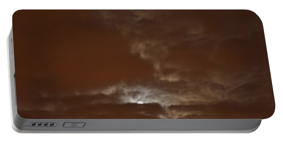 Moon Hiding In Clouds Portable Battery Charger featuring the photograph Hide And Seek by Sonali Gangane