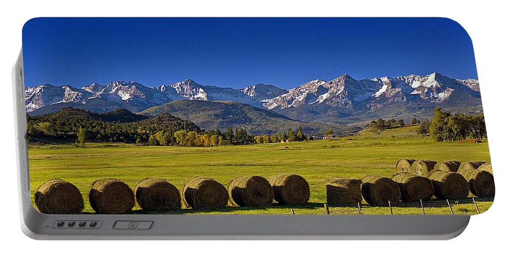 Mountain Portable Battery Charger featuring the photograph High Country Harvest by Brian Kerls