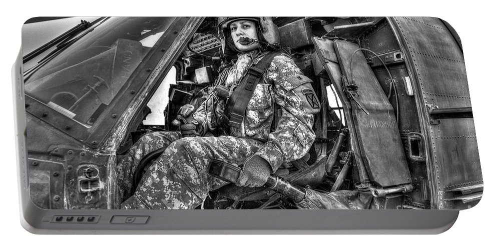 Aviation Portable Battery Charger featuring the photograph High Dynamic Range Image Of A Woman by Terry Moore