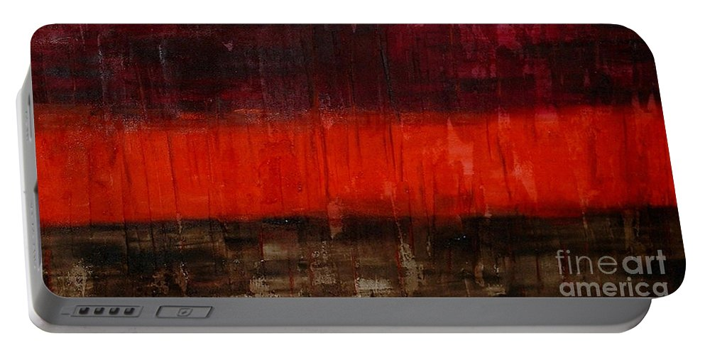 Abstract Portable Battery Charger featuring the painting High Energy by Silvana Abel