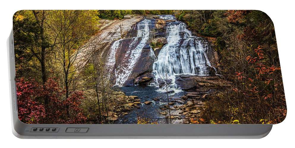 Nc Portable Battery Charger featuring the photograph High Falls by John Haldane