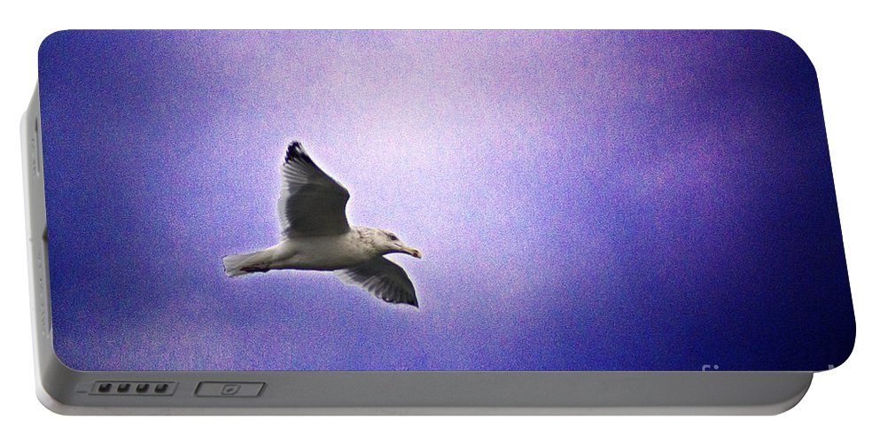 Surreal Portable Battery Charger featuring the photograph High Flyer by Joe Geraci
