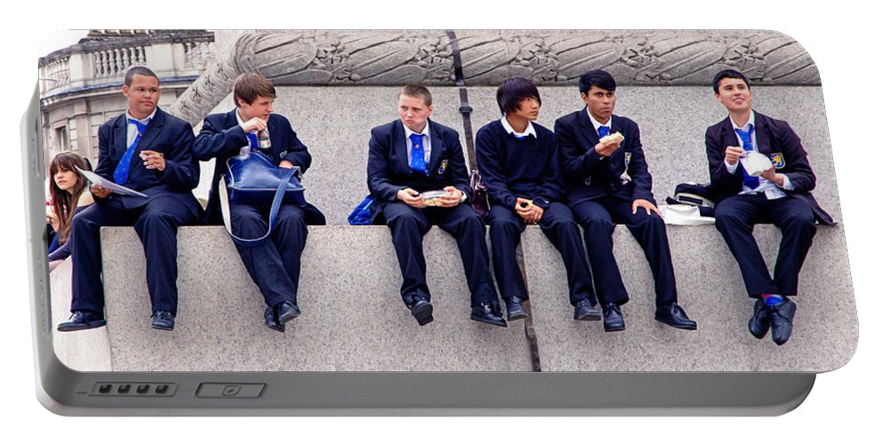 Private School Portable Battery Charger featuring the photograph High Lunch by Keith Armstrong