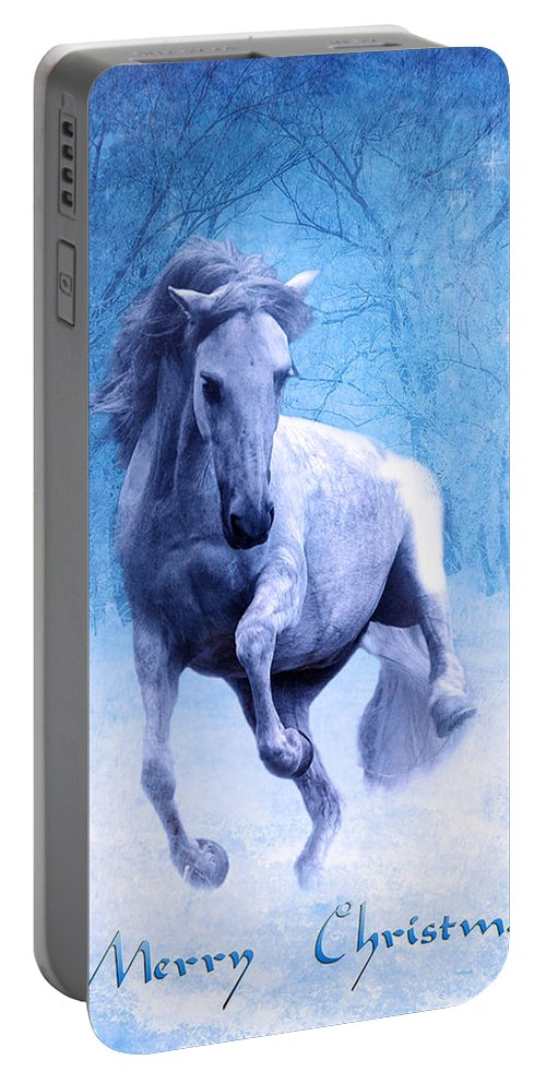 High Stepping Christmas Portable Battery Charger featuring the photograph High Stepping Christmas by Wes and Dotty Weber