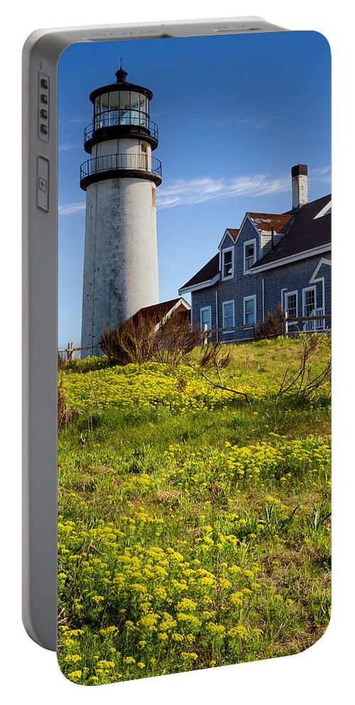 Cape Cod Portable Battery Charger featuring the photograph Highland Light Spring by Bill Wakeley