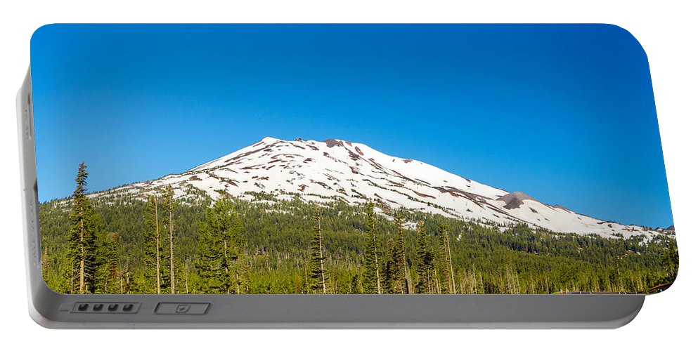 Road Portable Battery Charger featuring the photograph Highway Passing By Mountain by Jess Kraft