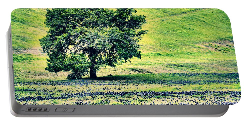 Hdr Portable Battery Charger featuring the photograph Hill Country Scenic Hdr by Gary Richards