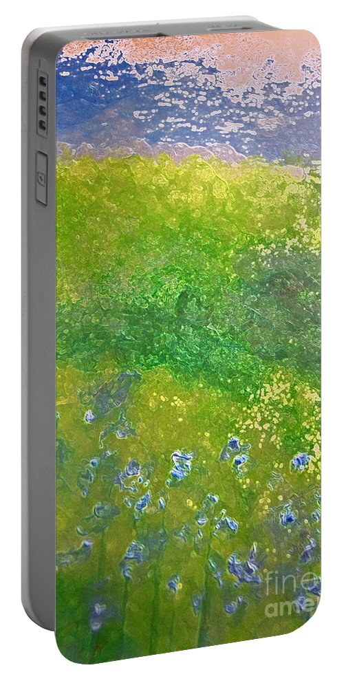 First Star Art Portable Battery Charger featuring the painting Hillside By Jrr by First Star Art