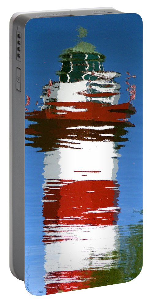 Hilton Head Portable Battery Charger featuring the photograph Hilton Head Lighthouse Reflection by Duane McCullough