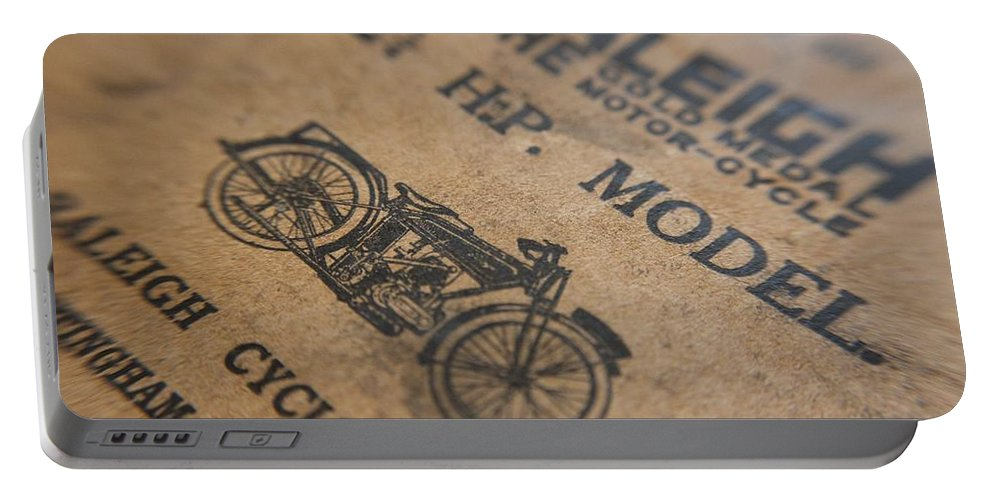 Raleigh Motorcycle Portable Battery Charger featuring the photograph Hints On A Raleigh by Robert Phelan