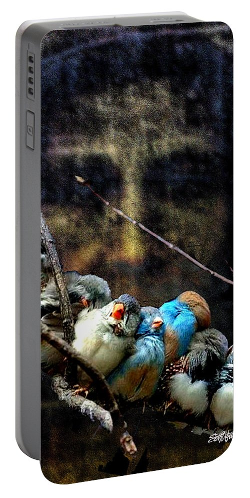 His Eye Is On The Sparrow Portable Battery Charger featuring the digital art His Eye Is On The Sparrow by Seth Weaver