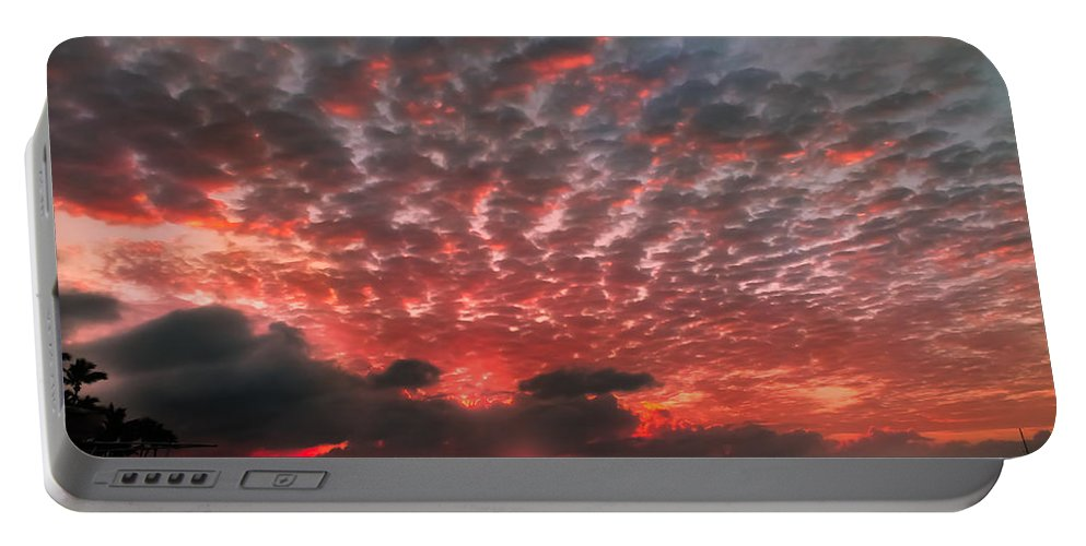 Florida Keys Sunsets Portable Battery Charger featuring the photograph His Signature by Karen Wiles