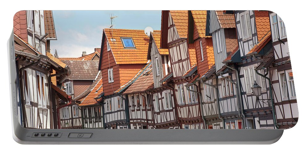 City Portable Battery Charger featuring the photograph Historic Houses In Germany by Heiko Koehrer-Wagner