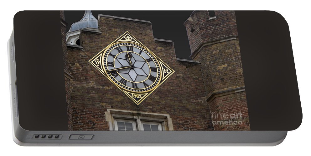 London Portable Battery Charger featuring the photograph Historic London Clock by Ann Horn