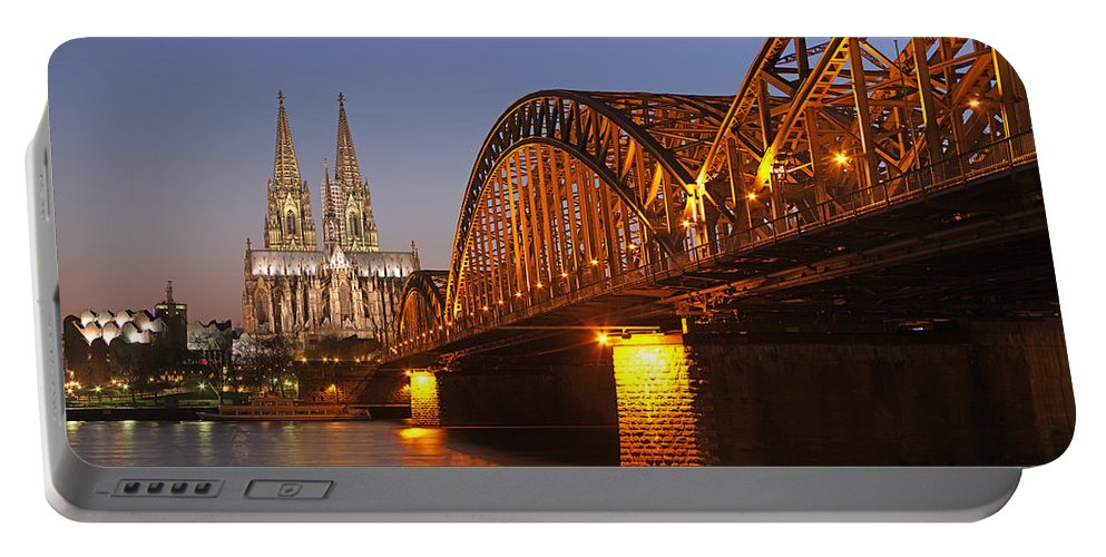 Hohenzollernbrücke Portable Battery Charger featuring the photograph Hohenzollernbrucke In Cologne by Paul Fearn