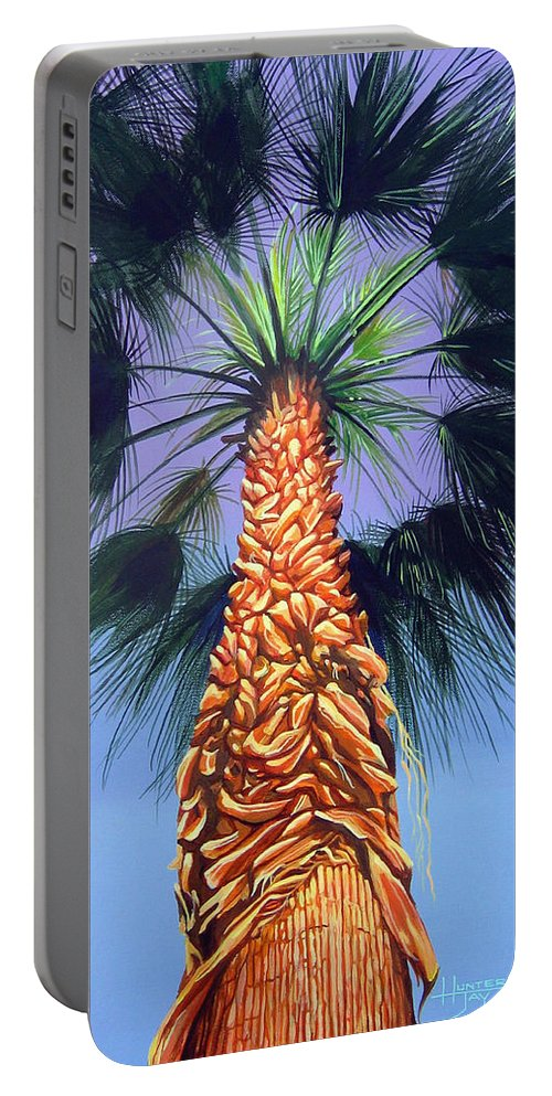 Palm Tree In Palm Springs California Portable Battery Charger featuring the painting Holding Onto The Earth by Hunter Jay